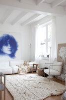 Bildnr.: 11006652<br/><b>Feature: 00790114 - Spiel der Kontraste</b><br/>A country house belonging to an interior designer, Niederlande<br />living4media / Claessens, Bieke