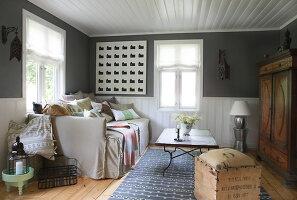 Bildnr.: 11126120<br/><b>Feature: 11126103 - Gr&#252;n(d)lich dekoriert</b><br/>Gr&#252;n in allen Varianten verziert ein Haus in Norwegen<br />living4media / Nordstrom, Annette