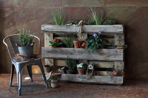 Bildno.: 11204882<br/><b>Feature: 11204844 - Trash to Treasure</b><br/>How to transform transport pallets into furniture<br />living4media / Raider, Peter