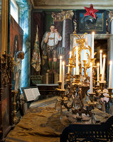 Bildno.: 11213074<br/><b>Feature: 11213061 - Staged for Living</b><br/>Stage designer&#39;s Baroque apartment in Vienna<br />living4media / von Oswald, Yvonne