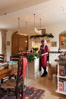 Bildnr.: 11216264<br/><b>Feature: 11216227 - Wo Weihnachten wohnt</b><br/>Klassisch dekoriertes Landhaus in Nottinghamshire, England<br />living4media / von Einsiedel, Andreas