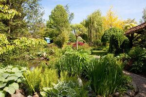 Bildno.: 11223668<br/><b>Feature: 11223659 - Green and Grand</b><br/>Romantic garden in Limburg, Belgium<br />living4media / Pietrek, Sibylle