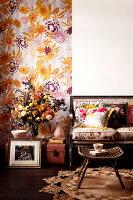 Bildnr.: 11239584<br/><b>Feature: 11239578 - Ein Leben im Kunstwerk</b><br/>Florale Muster und aufregende Farben f&#252;r die ganze Wohnung<br />living4media / Bauer Syndication