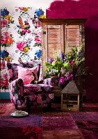 Bildnr.: 11239588<br/><b>Feature: 11239578 - Ein Leben im Kunstwerk</b><br/>Florale Muster und aufregende Farben f&#252;r die ganze Wohnung<br />living4media / Bauer Syndication