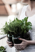 Bildno.: 11374544<br/><b>Feature: 11374522 - City Gardening</b><br/>All you need is a balcony and a few pots to grow your favourite foods<br />living4media / Eising Studio - Food Photo &amp; Video