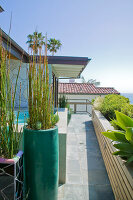 Bildno.: 11431520<br/><b>Feature: 11431407 - California Dreaming</b><br/>Artist and entrepreneur couple build a dream home in Laguna Beach, California<br />living4media / Parinejad, Patricia