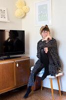 Bildnr.: 11447504<br/><b>Feature: 11447452 - Illustres Zuhause</b><br/>Kinderbuchautorin Linda liebt auch zuhause grafische Elemente, Schweden<br />living4media / M&#246;ller, Cecilia