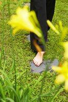 Bildnr.: 11501076<br/><b>Feature: 11501027 - Gr&#252;ne Oase in der Stadt</b><br/>Galeristin Elly liebt es in ihrem Garten zu lustwandeln und zu meditieren, Dresden<br />living4media / Krieg, Roland