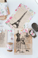 Bildno.: 11508748<br/><b>Feature: 11508741 - Catching the Eye</b><br/>DIY project using vintage French paper products<br />living4media / Syl Loves