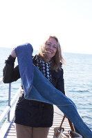 Bildnr.: 11510162<br/><b>Feature: 11510134 - Nimm&#39;s Denim!</b><br/>DIY, N&#228;hen und Deko mit Blue Jeans<br />living4media / Greenhaus Press