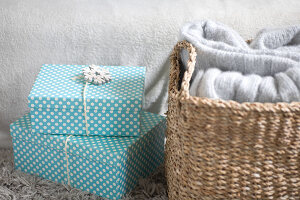 Bildno.: 11515544<br/><b>Feature: 11515539 - Christmas Pastels</b><br/>Snowy whites, icy blues, some furs and wool - now its cozy<br />living4media / Koll, Alicja