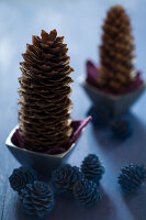 Bildnr.: 11515578<br/><b>Feature: 11515567 - K&#246;nigsblau und Bordeauxrot</b><br/>Winterliche Deko mit kr&#228;ftigen dunklen Farben und Filz<br />living4media / Koll, Alicja