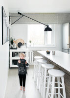 Bildno.: 11953518<br/><b>Feature: 11953492 - Know Your Style</b><br/>White, black and grey are the only colours in this home in Estonia<br />living4media / K&#252;barsepp, Juta