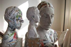Bildno.: 11991380<br/><b>Feature: 11991357 - Head Hunting</b><br/>Visit to the workshop of a Hamburg artist who makes sculptured portraits<br />living4media / Gewecke, Gudrun
