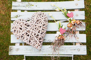 Bildno.: 11991402<br/><b>Feature: 11991390 - A Heart for All to See</b><br/>Valentine decoration using spring plants<br />living4media / Herwig, Modeste