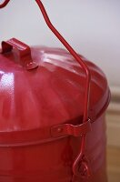 Red waste bucket