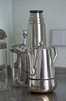 Chrome coffee pot