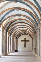 Corvey – cloister with the Romanesque triumphal cross