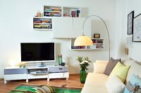 Television in modern living room