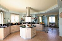 Spacious kitchen with breakfast room (Villa Octavius, Lefkas, Greece)