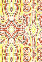 Orange and yellow mosaic pattern (print)