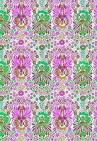 Purple and green floral pattern (print)