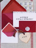Red and white Christmas cards