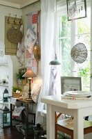 Sales room for home accessories decorated in country-house style