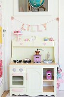 White toy kitchen