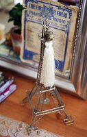 Miniature Eiffel Tower with tassel