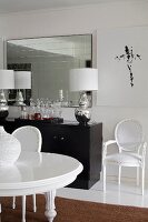 Medallion chair in elegant, eclectic dining room