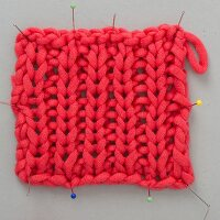 A piece of knooking – knitting with a hook