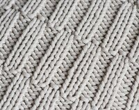 A knitted pattern with offset ribbing (full frame)