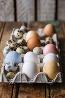 Eggs dyed using natural dyes