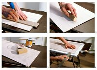 Instructions for making wood-effect kitchen cabinet doors