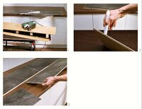 Instructions for making a granite-effect laminate splashback