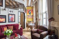 Eclectic apartment with vintage ambiance