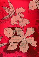 Red hibiscus design (print)