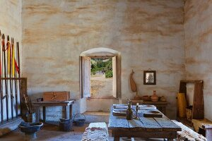 Historic soldiers quarters at Mission La Purisima State Historic Park, Lompoc, California
