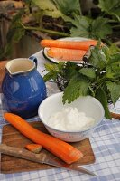 Ingredients for carrot quark