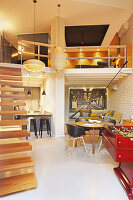 Split-level loft apartment