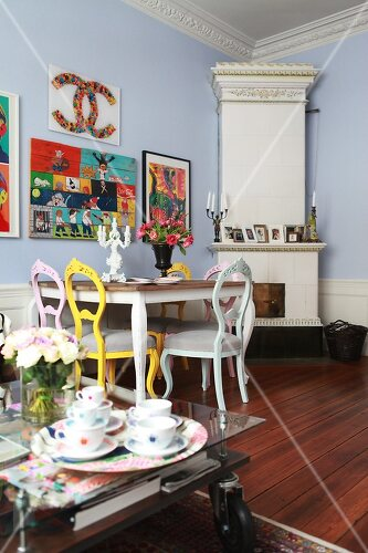 Use contrasting colours to create bright new interiors