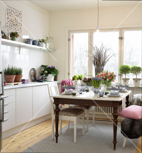 Swedish home decorated with objects from all over the world
