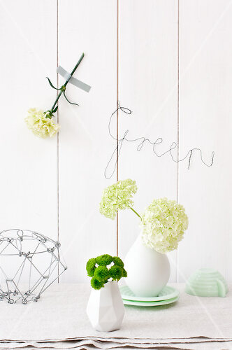 Green flowers add a special kick to any room