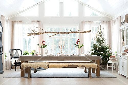 Weiße Weihnachten im Kreis der Familie auf schwedische Art