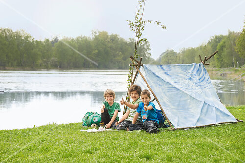 DIY project for building a children's pup tent
