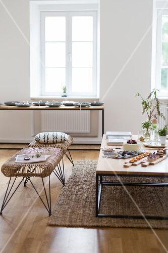 Scandinavian style living room in Vienna