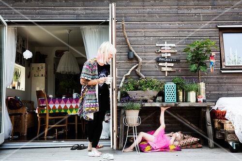 An artist's home in Varberg, Sweden spills over with joie de vivre