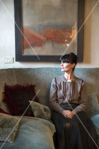 Bei Designerin Valentina in Ligurien trifft französischer Jugendstil auf Ethno