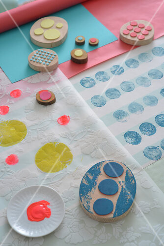 Dots and spots decorate these fun interior accessories